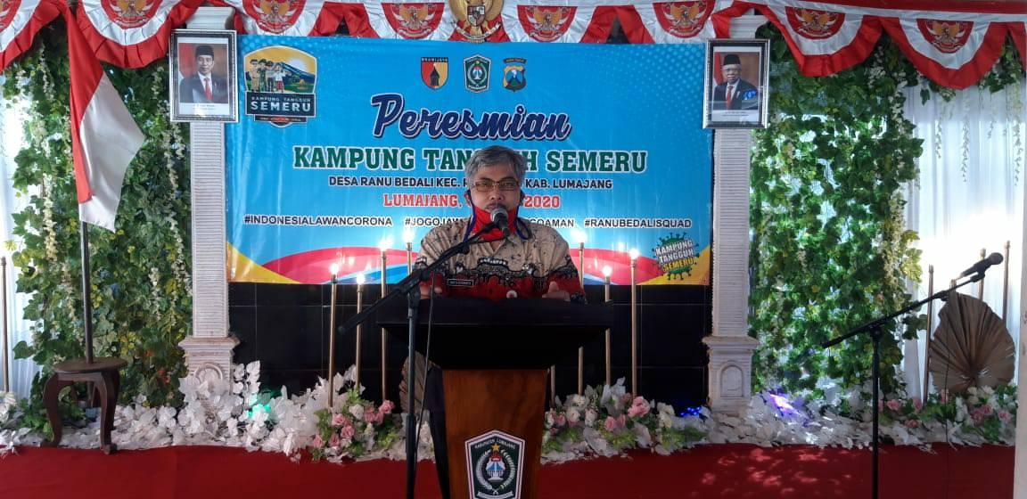 Peresmian Kampung Tangguh Semeru Desa Ranubedali Kecamatan Ranuyoso